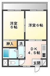 メゾンハピネス[4階]の間取り