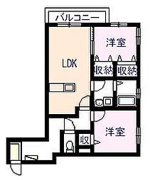 シャーメゾンKOKOMO[2階]の間取り