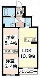 シャーメゾンK-IV[2階]の間取り