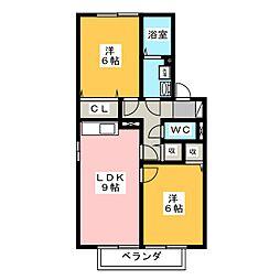 ストークシャトル B棟[2階]の間取り
