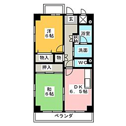 カーサスギトピア[3階]の間取り