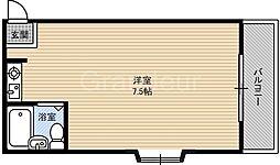 比枝コーポラス徳庵[4階]の間取り