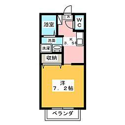 リバーハイム川井町[1階]の間取り
