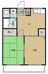 金子マンション五番館[3階]の間取り
