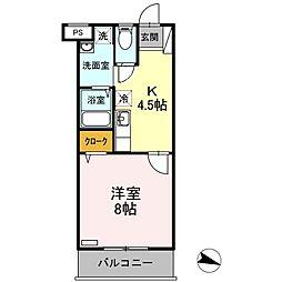 サニーハイツ福岡[306号号室]の間取り