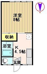 タロウハイツI[2B号室]の間取り