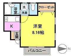 コーポミルクール[1階]の間取り