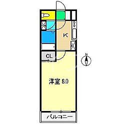 シルクハウス[3階]の間取り