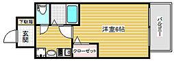 エステムコート神戸三宮山手センティール[4階]の間取り