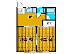東峰ハイツ[1階]の間取り
