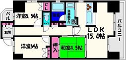 レジディア都島I[9階]の間取り