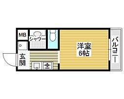 朝日プラザ堺東[2階]の間取り