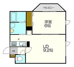 北海道札幌市厚別区厚別中央一条3丁目の賃貸マンションの間取り