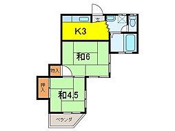 プチメゾンセガサキ[1階]の間取り