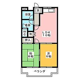ルイール21[2階]の間取り