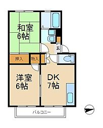 クレール相模台[2階]の間取り