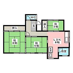 工藤アパート[1階]の間取り