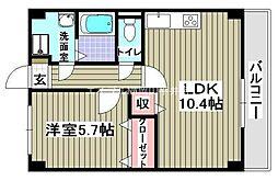 岡山県岡山市北区今8丁目の賃貸マンションの間取り
