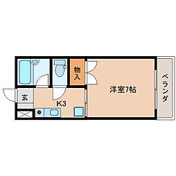 静岡県静岡市葵区水道町の賃貸マンションの間取り