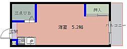 相川シングルハイツ[407号室]の間取り