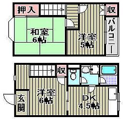 [タウンハウス] 大阪府泉佐野市高松東2丁目 の賃貸【/】の間取り