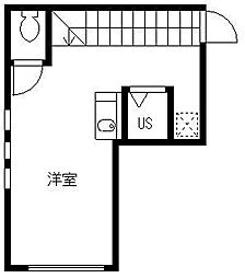 東京都中野区中央4丁目の賃貸アパートの間取り