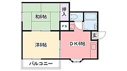 富士ハウス[101号室]の間取り