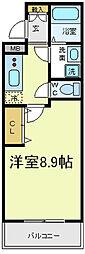 [タウンハウス] 大阪府大阪市西成区天神ノ森1丁目 の賃貸【/】の間取り