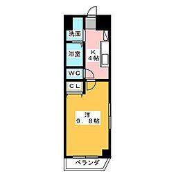 M.HOUSE.1[5階]の間取り