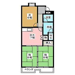 ガーデンハイツエクレール[1階]の間取り