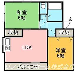 ニュー大原住宅[2階]の間取り