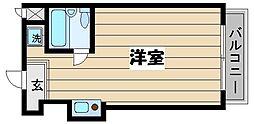 東京都板橋区成増5丁目の賃貸マンションの間取り