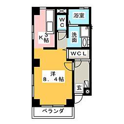エスポア21[3階]の間取り