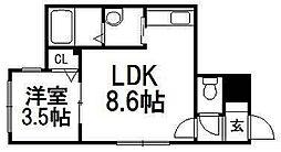 Lumiere[2階]の間取り