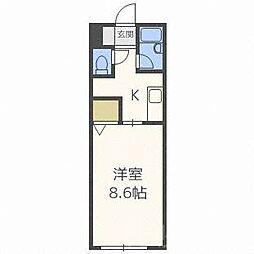 北海道札幌市北区北二十条西7丁目の賃貸マンションの間取り