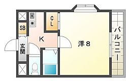 ジャルディーノ21[2階]の間取り