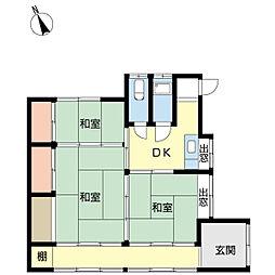 小松原町2丁目借家[1階]の間取り