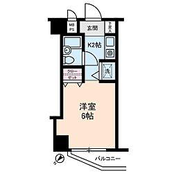 ライオンズマンション仲六郷[0402号室]の間取り
