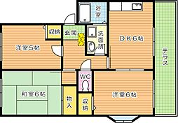 学園台シャルマンIII[1階]の間取り