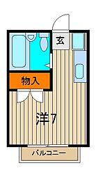 エステートピア浦和[2階]の間取り
