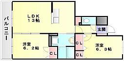 ルヴニールメゾン[3階]の間取り