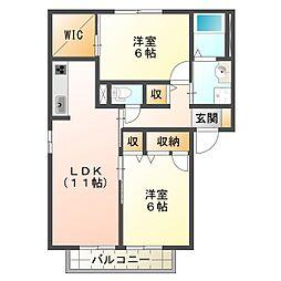 兵庫県神戸市垂水区清水が丘3丁目の賃貸アパートの間取り