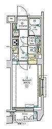 JR中央本線 西荻窪駅 徒歩6分の賃貸マンション 2階1Kの間取り