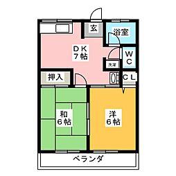 シティハイム蘭[2階]の間取り