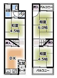 [一戸建] 大阪府守口市藤田町3丁目 の賃貸【/】の間取り