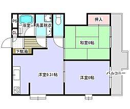 神奈川県横浜市港南区日野1丁目の賃貸マンションの間取り
