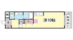 S-FORT 神戸神楽町[10階]の間取り