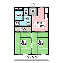 コーポ・アゴソ[3階]の間取り