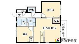 サンモール・コリーヌF棟[1階]の間取り