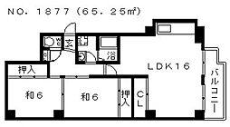 レジデンストーア[3階]の間取り